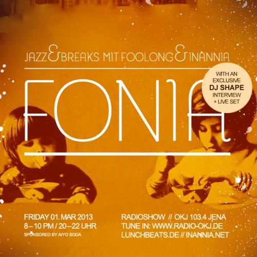Fonia Session 10 – Guest: Dj Shape
